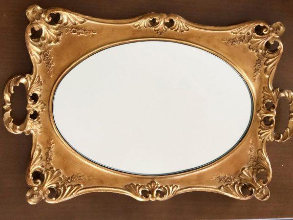 Gold Mirror Coffee Tray